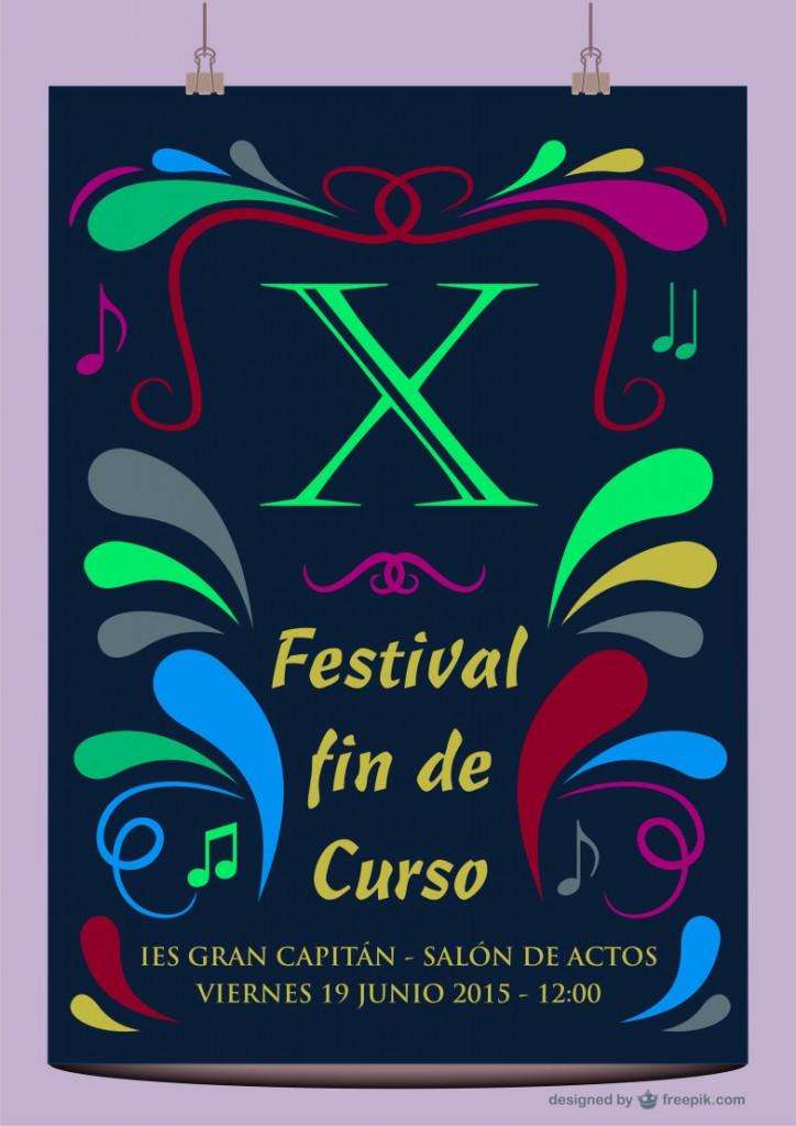 Festival fin de curso 2015- Cartel 1108x768